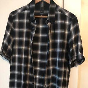 H&M Men's Slim Fit Checkered Button Down Medium